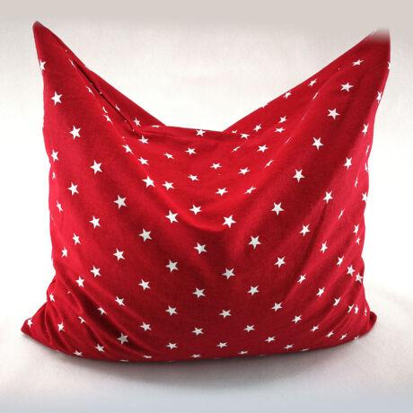 Piros csillagos, Tönköly párna, 100% pamutban   34x44 cm