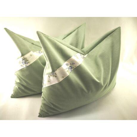 Zöld tönköly párna szett Extra 100% pamutban